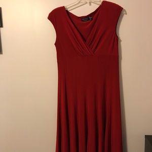 American living red dress sleeveless sz 8 EUC